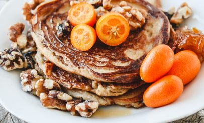 Sweet and Sour Gluten Free Vegan Kumquat Pancakes